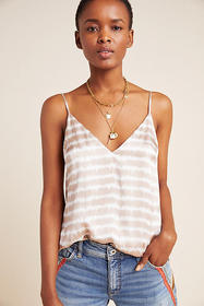 Anthropologie Olivia Tie-Dyed Silk Cami