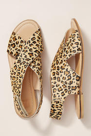 Anthropologie Maruti Cross-Strap SIingback Sandals