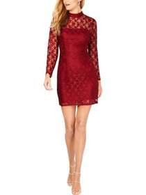 Betsey Johnson Womens Lace Deep Star Printed Party