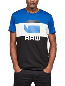 G-Star Raw Mens Big & Tall Colorblock Logo T-Shirt