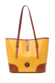 Dooney & Bourke Dover Weave Leather Tote Bag