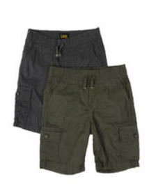 Lee 2 pack cargo shorts (4-7)
