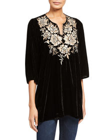 JWLA for Johnny Was Olenna Embroidered Tunic