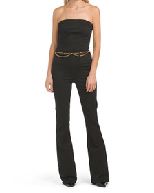 TRUE RELIGION Flare Jumpsuit With Belt