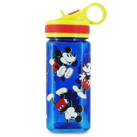 Disney Mickey Mouse Water Bottle with Built-In Str