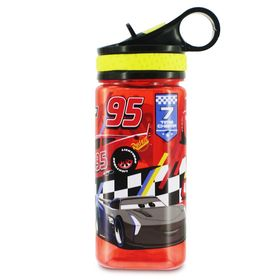 Disney Cars Water Bottle with Built-In Straw