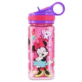 Disney Minnie Mouse Water Bottle with Built-In Str