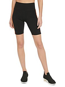 DKNY Multicolor Side-Stripe Biker Shorts