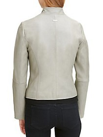 DKNY Leather Moto Jacket