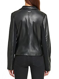 DKNY Asymmetric Leather Jacket