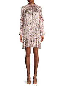 Cynthia Rowley Penny Floral Butterfly Silk-Satin S