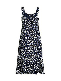 Donna Karan Printed Flare Dress