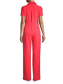 Donna Karan Collared Jumpsuit