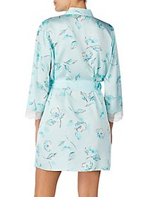 Kate Spade New York Three-Quarter Floral Lace Robe