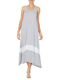 Donna Karan Striped Sleeveless Nightgown