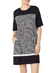 DKNY Colorblock & Print Sleep Shirt