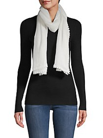 Vince Camuto Textured Lace-Trim Scarf