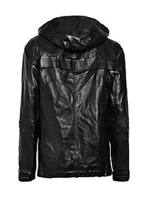Diesel Livento Hooded Leather Jacket