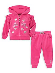 Juicy Couture Baby Girl's 2-Piece Hoodie & Joggers