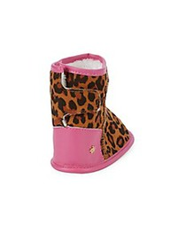 Juicy Couture Baby's Leopard Print Faux Fur Lined