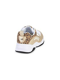 Juicy Couture Girl's Leopard-Trim Low-Top Sneakers