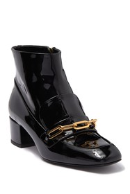 Burberry Chettle Patent Leather Loafer Bootie