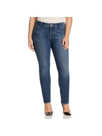Lucky Brand Womens Plus Emma High Rise Denim Strai