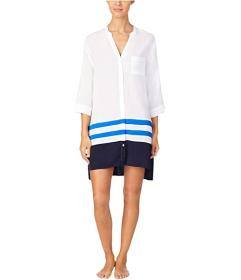 Donna Karan Viscose Plain Weave Sleepshirt