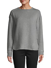 Donna Karan High-Low Long-Sleeve Top