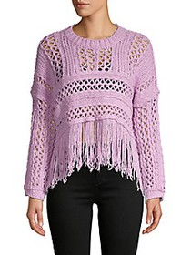 Free People Crochet Cotton-Blend Sweater
