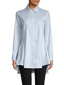 Donna Karan Flared High-Low Blouse