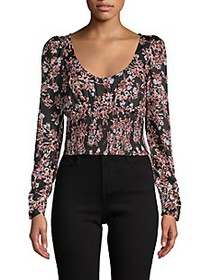 Free People Santiago Floral Blouse