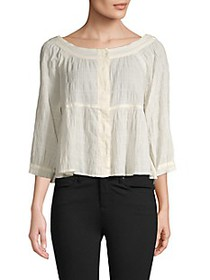 Free People Textured High-Low Top