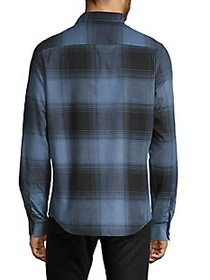 DKNY Natural Stretch-Fit Plaid Shirt