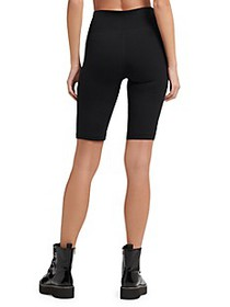 DKNY Logo Patch Bike Shorts