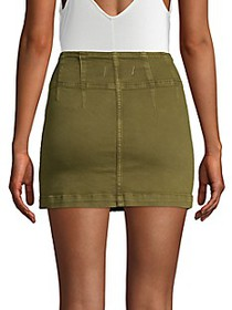 Free People Virgo Zip-Front Mini Skirt