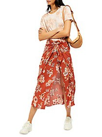 Free People Sunray Floral Sarong Skirt