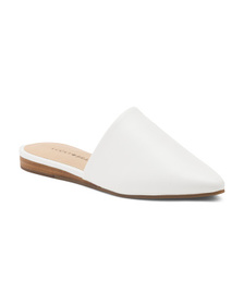 LUCKY BRAND Pointy Toe Leather Mules