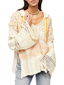 Free People Coastline Chevron Hoodie