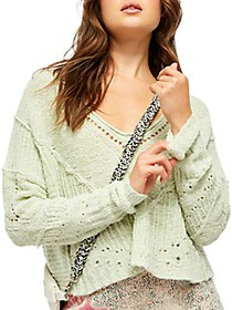 Free People Seashell Cropped Sweater
