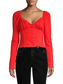 Free People Long-Sleeve Corset Top