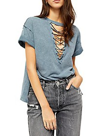 Free People Azalea Lace-Up Top