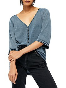 Free People Morgan High-Low Henley