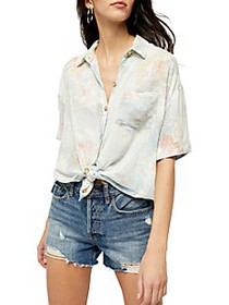 Free People Share Good Vibes Floral Shirt
