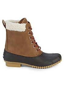 Tommy Hilfiger Russels Faux Shearling-Trim Ankle B