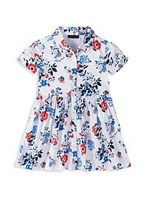 Tommy Hilfiger Baby Girl's Floral A-Line Shirtdres