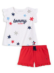 Tommy Hilfiger Baby Girl's 2-Piece Logo T-Shirt &