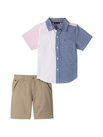 Tommy Hilfiger Baby Boy's 2-Piece Woven T-Shirt &