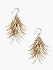 Lucky Brand Elongated Petal Earrings