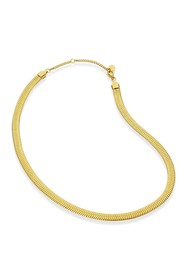 Savvy Cie 18K Gold Herringbone Wide Chain Necklace